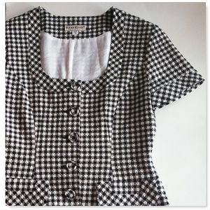 Bebe Black and White Gingham Blazer Size 8